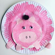 We are loving our piggies at the moment  What with Old MacDonald's oinking pig Peppa and George- and our love for paper plate crafts... We decided we needed to make a new pig. His name is Poo Pig  Simply paper plate paint smaller circle for face pieces for arms legs ears eyes and hair. Great little special awareness craft with fine motor skill practice.  #kidscrafts #kidsactivities #finemotorskills #painting #kindergarten #prek #preschool #kidsactivity #familyfirst #weekend #oink #mum #mom…