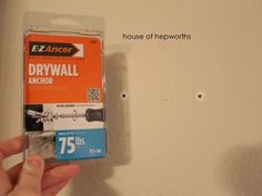 Best drywall anchors ever. Also, How to hang a heavy full-length leaner mirror on the wall.
