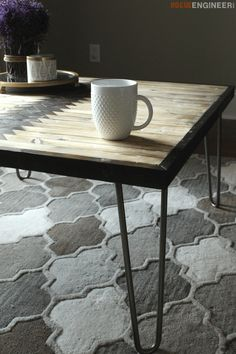 Tribal Hairpin Coffee Table - Free DIY Plans | http://rogueengineer.com/ #DIYFurniturePlan #CoffeeTable