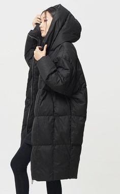 Womens Winter Loose Fitting Down Coat Womens Hooded by hodoostory