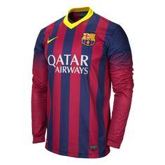Nike FC Barcelona 2013/2014 LS Home Soccer Jersey