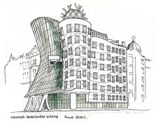 Frank Gehry S Own Sketches Of His Building Designs