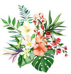 Botanical Flowers, Flowers Nature, Diy Flowers, Beautiful Flowers, Flower Art Images, Mexican Fabric, Design Seeds, Japanese Art, Watercolor Paintings