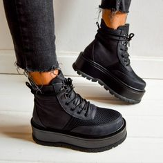** Ghete - Luk - Black Ibiza, All Black Sneakers, Concert, Boots, Winter, Casual, Fashion, Crotch Boots, Winter Time