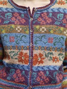 Maple pattern by Marie Wallin - Perlmuster Sitricken Fair Isle Knitting Patterns, Fair Isle Pattern, Sweater Knitting Patterns, Knitting Stitches, Knitting Designs, Knit Patterns, Knitting Projects, Hand Knitting, Knitting Tutorials