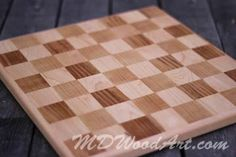 step by step plans how to make a solid wood checker board