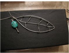 Wire wrap leaf pendant