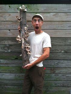 How to grow mushrooms - Michael Judd with shiitake mushroom log