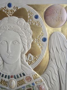 A Contemporary Opus Sectile Icon – Orthodox Arts Journal Byzantine Art, Byzantine Icons, Religious Icons, Religious Art, D N Angel, Rosary Mysteries, Illumination Art, Archangel Raphael, Inspirational Artwork