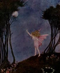 Ida Rentoul Outhwaite - 'Catching the moon on a rope of dewdrops' from ''Fairyland'' (1926) Serena: The Bush Fairy
