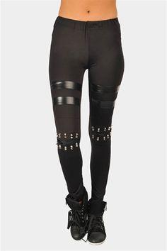 Knee You Spike Legging - Black I want these spike legging :P
