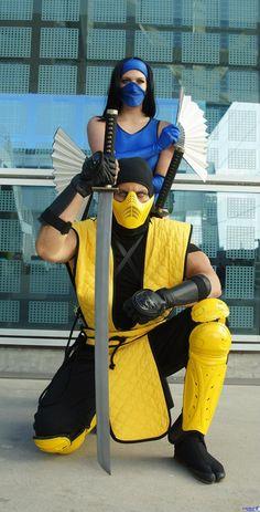 scorpion and kitana mortal kombat cosplay by danquish on deviantart - Mortal Kombat Smoke Halloween Costume