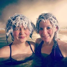 Takhini Hot Pools in Canada host an annual hair freezing competition.