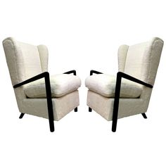 Jean Royere Genuine Documented Rarest Arm Chair With Blackened Arm And Faux Fur Reupholstery ca.1960