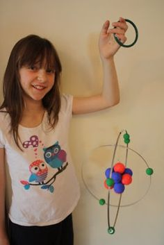 Lizzy was allowed to choose the topic for her last school project. It didn't surprise me that she chose a topic - Atoms and Molecules  - whi...