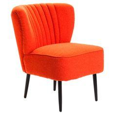 Valencia Accent Chair in Orange