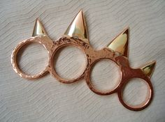 Copper brass knuckles