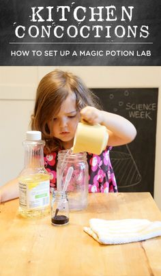 "Science for kids - fun way to get kids interested in chemistry! ""magic potion"" lab"