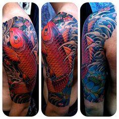 koi tattoo arm - Google Search