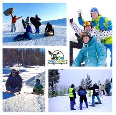 Airboard, kjelkeracing og slalomskiskyting