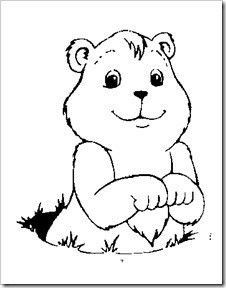 Groundhog Coloring Pages To Print | Cartoon | Pinterest | Bulletin ...