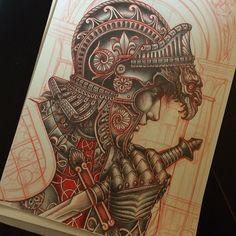 Best Tattoos for Women Medieval Tattoo, Medieval Art, Tattoo Sketches, Tattoo Drawings, Tattoo L, Knight Tattoo, Desenho Tattoo, Tattoo Stencils, Flash Art