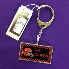 Licensed University of Georgia Bulldogs keyclip by AnnPedenJewelry