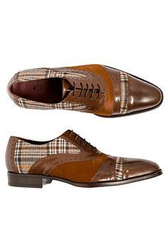 These shoes have a modern twist to them. Very classic and clean with the plaid patterning on them. Love these shoes! Der Gentleman, Gentleman Shoes, Men S Shoes, Your Shoes, Men's Accessories, Well Dressed Men, Formal Shoes, Looks Style, Luxury Shoes