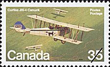 Canadian Postal Archives Database Postal Administration: Canada Title: Curtiss JN-4 Canuck Denomination: 35¢ Date of Issue: 10 November 1980
