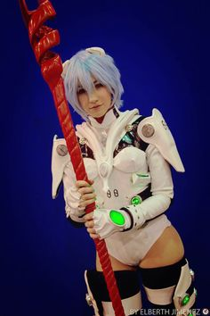 Rei Ayanami from Evangelion Cosplay