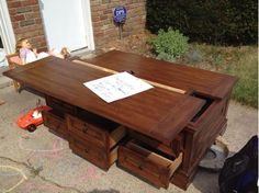 How to Convert a Coffee Table to a Lift Top Lift top coffee