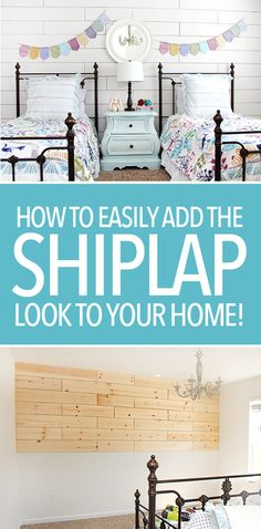 How to easily add the shiplap look to your home. Easy DIY tutorial!