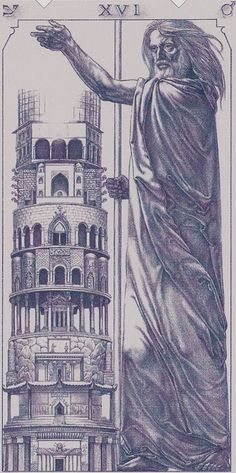 XVI. The Tower: Tarot of the III Millenium Find out what the Tower means for you: www.tarotbyemail.com