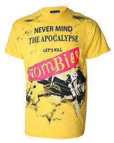 Darkside Never Mind The Apocalypse Mens Tshirt Sex Pistols Yellow 0