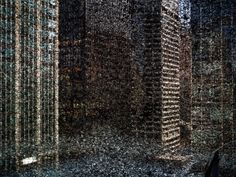 Tent-Camera Image on Ground: Rooftop View of Midtown Manhattan Looking…