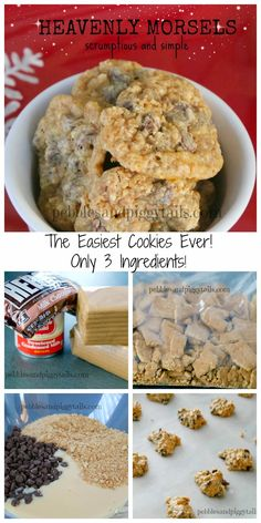 Heavenly Morsel cookies are the easiest cookie you'll ever make.  They are scrumptious and simple with a yummy chewiness.  They only need 3 ingredients!  With graham crackers, chocolate chips, and sweetened condensed milk.