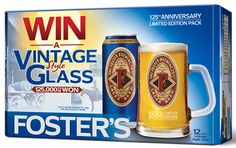 BEER KNOWLEDGE - Foster's vintage games and glassware take consumers back to 1888. On trade drinkers are being given the chance to win a range of vintage bar games, while off trade shoppers can win stylish Foster's 1888 branded glassware.  Running in over 5,000 pubs and clubs across the UK, the scratch-card promotion lets winners collect an assortment of retro designed pub games including playing cards, poker dice, a vintage games book and table quoits.