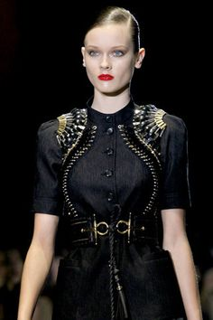 Gucci Spring 2011 RTW Embellished Short Sleeved Top