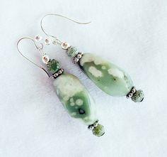 SALE Peace Jade Earrings by allthingsbarbara on Etsy, $12.00