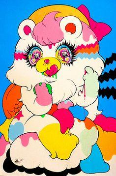 rorschach and prozac Japon Illustration, Cute Illustration, Psychedelic Art, Character Art, Character Design, Desu Desu, Creepy Cute, Kawaii Art, Aesthetic Art