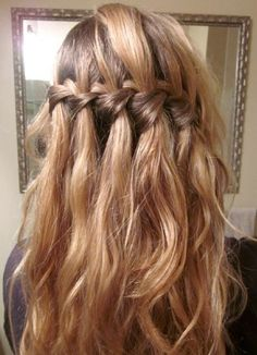 waterfall braid instructions youtube