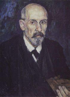 man Василий Суриков. Галерея живописи. Человек с больной рукой. 1913.