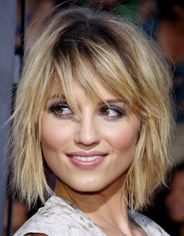 Hairstyles for mom that take 10 minutes or less: Edgy, Tousled Bob Celebrity Hairstyles, Cool Hairstyles, Bed Head, Dianna Agron, Hair Style, Hair Ideas, Salons, Hair Beauty, Fine Hairstyles