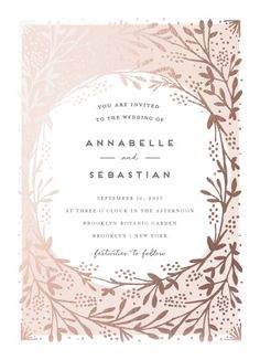 wedding invitations - le feuillage by Bonjour Paper Wedding Invitation Inspiration, Classic Wedding Invitations, Gold Wedding Invitations, Wedding Invitation Design, Wedding Stationary, Wedding Cards, Foil Wedding Stationery, Faire Part Invitation, Invitation Suite