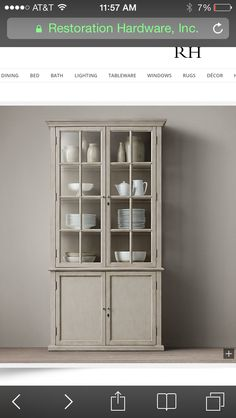 Our china cabinet
