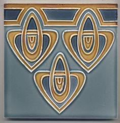 Super rare  Bankel  3  Knoten   Jugendstil  Fliese  art  nouveau tile