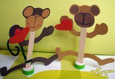 Małpka z serduszkiem - Prace plastyczne dla dzieci