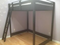 DIY full size loft bed - maybe an option for keeping dogs out of bed at night without resorting to crating