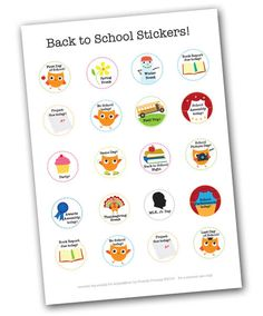 Back to school printables: free calendar date stickers at Alpha Mom