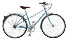 Mixte 3 by Linus. Classic mixte frame but no chain guard. Good for picking up market vegetables along the canal streets in Amsterdam.